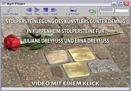 Player Stolpersteinlegung